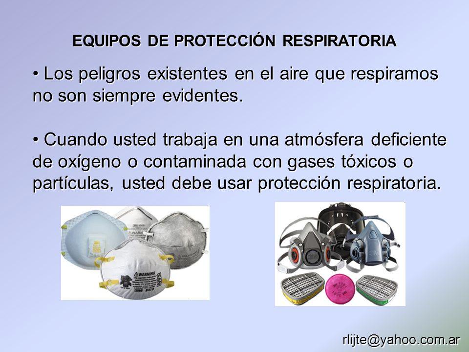 EQUIPOS DE PROTECCIÓN RESPIRATORIA Los peligros existentes en el aire que respiramos no son siempre evidentes. Los peligros existentes en el aire que