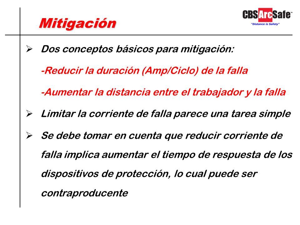 MitigaciónMitigación Actualmente se fabrican tableros que cuentan con previsiones para redireccionar el arco Qué hacer con los tableros existentes? Se