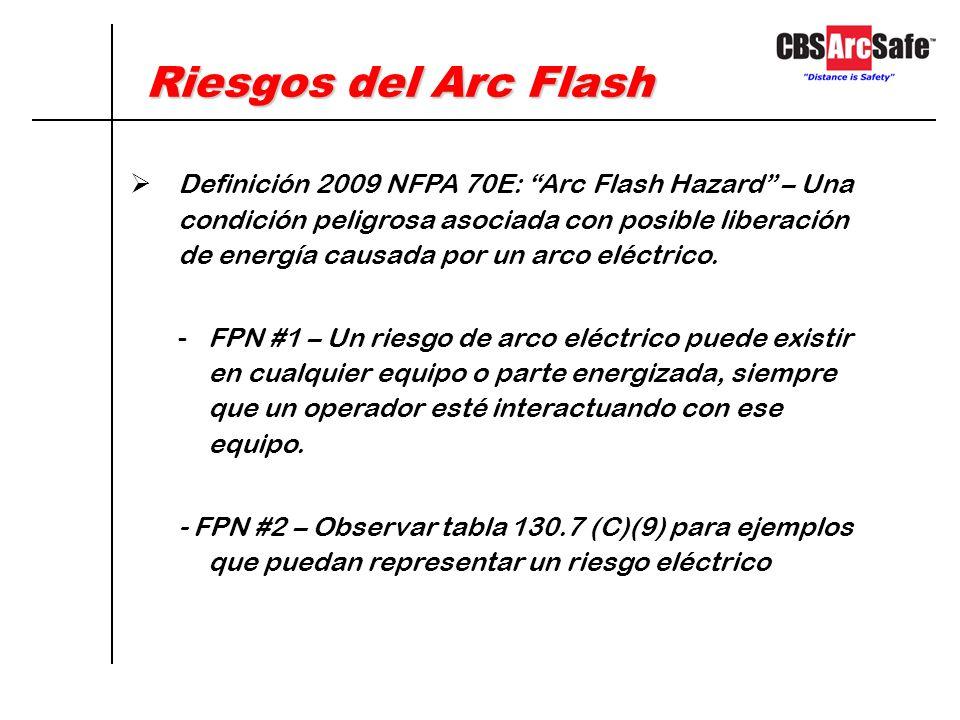No hay manera posible de eliminar completamente los riesgos de Arc Flash El método preferido y más efectivo para realizar cualquier trabajo eléctrico