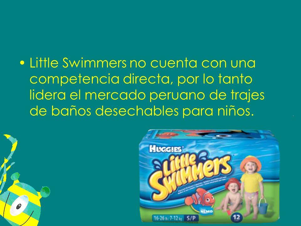 Little Swimmers no cuenta con una competencia directa, por lo tanto lidera el mercado peruano de trajes de baños desechables para niños.