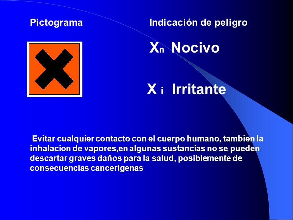 PictogramaIndicación de peligro T + muy toxico T toxico Evitar cualquier contacto con el cuerpo humano, ya que no se pueden descartar graves daňos para la salud, posiblemente de consecuencias mortales