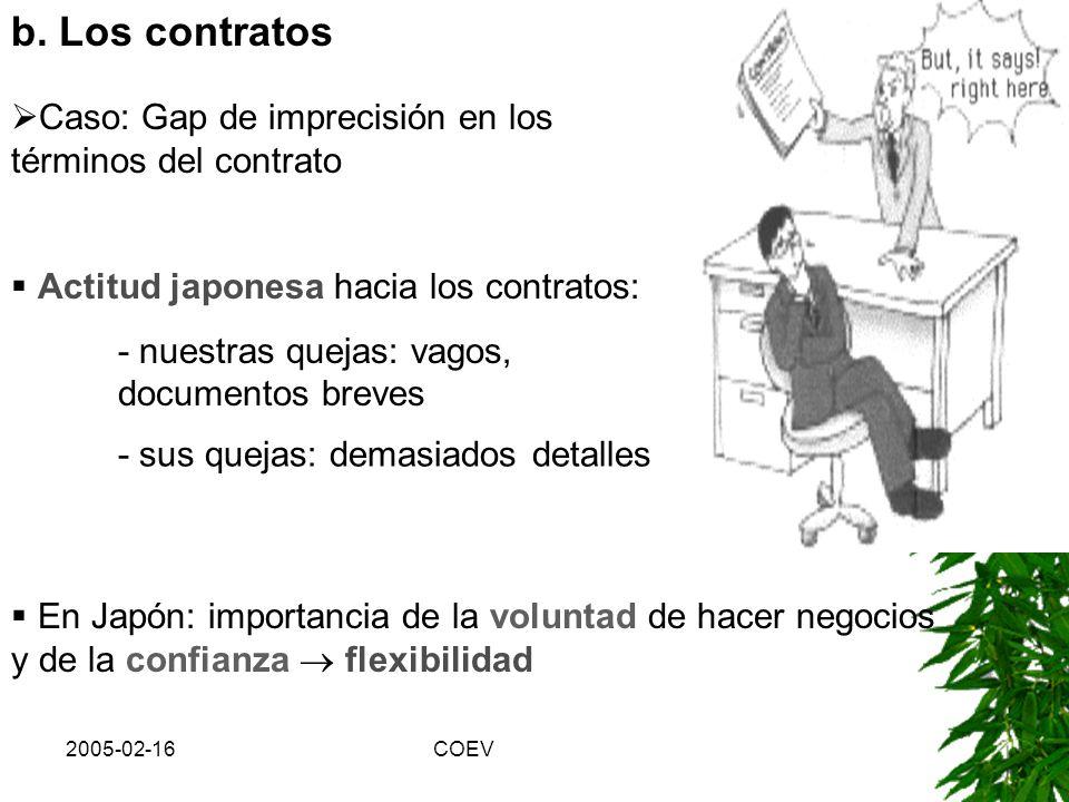 2005-02-16COEV 3) Gaps en comunicación I, Nemawashi (root-binding) proceso informal para hacer una proposición, obtener informaciones y reforzar apoyo