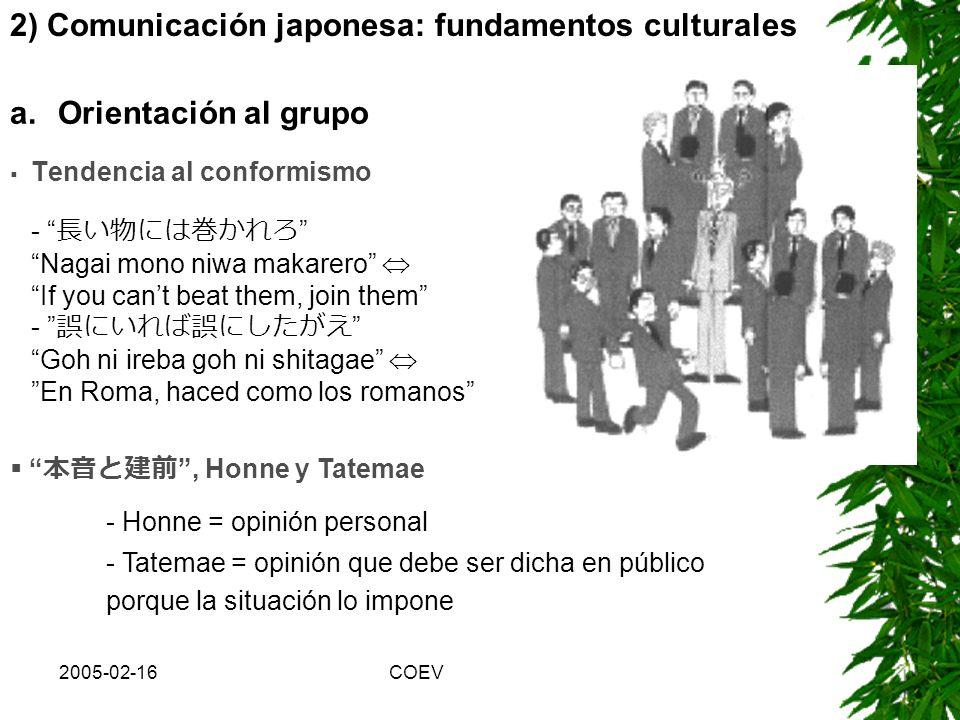 2005-02-16COEV Expansión geográfica mercados y estándares globales realidad virtual Colaboración internacional no hablamos el mismo idioma! Gaps (brec
