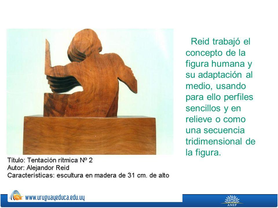 Reid trabajó el concepto de la figura humana y su adaptación al medio, usando para ello perfiles sencillos y en relieve o como una secuencia tridimensional de la figura.