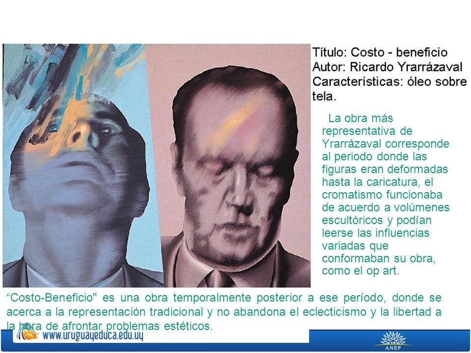 La obra más representativa de Yrarrázaval corresponde al periodo donde las figuras eran deformadas hasta la caricatura, el cromatismo funcionaba de acuerdo a volúmenes escultóricos y podían leerse las influencias variadas que conformaban su obra, como el op art.