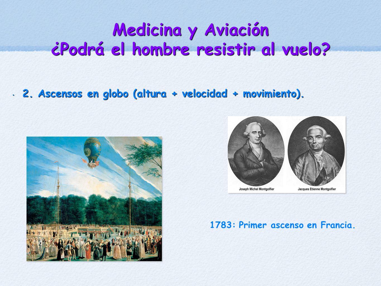 2. Ascensos en globo (altura + velocidad + movimiento). 2. Ascensos en globo (altura + velocidad + movimiento). 1783: Primer ascenso en Francia.