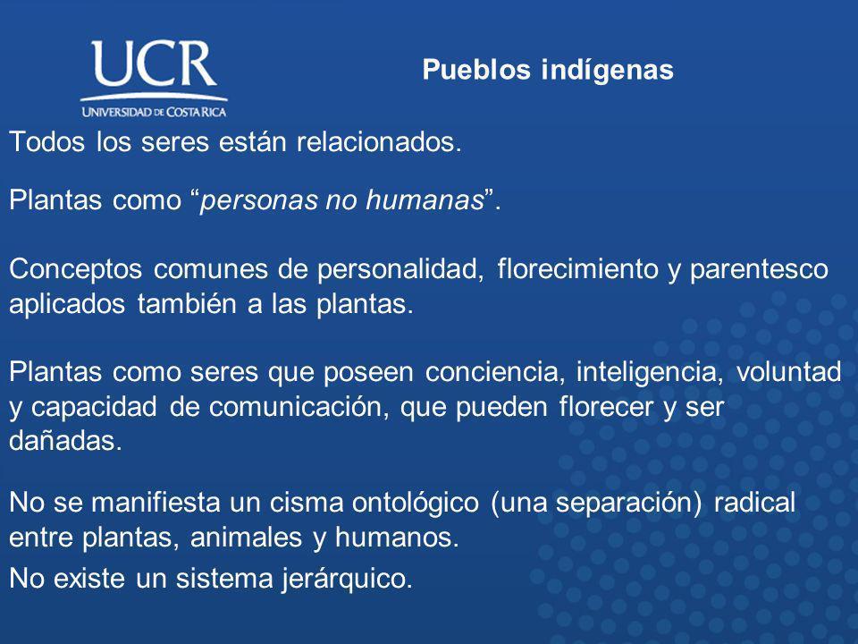 Pueblos indígenas Todos los seres están relacionados. Plantas como personas no humanas. Conceptos comunes de personalidad, florecimiento y parentesco