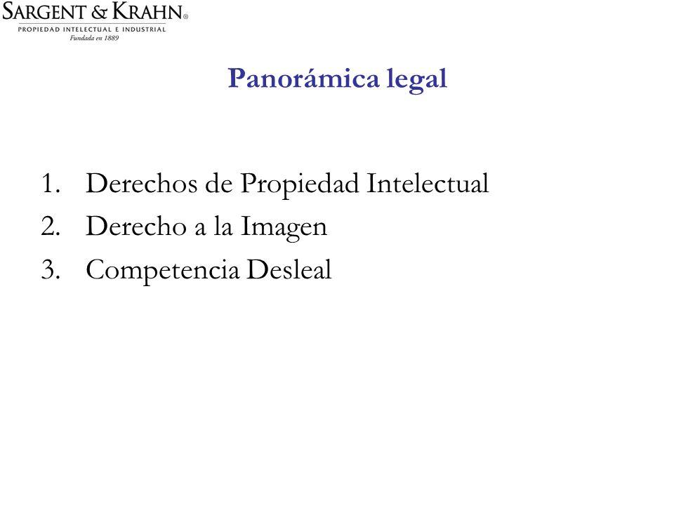 Panorámica legal 1.Derechos de Propiedad Intelectual 2.Derecho a la Imagen 3.Competencia Desleal
