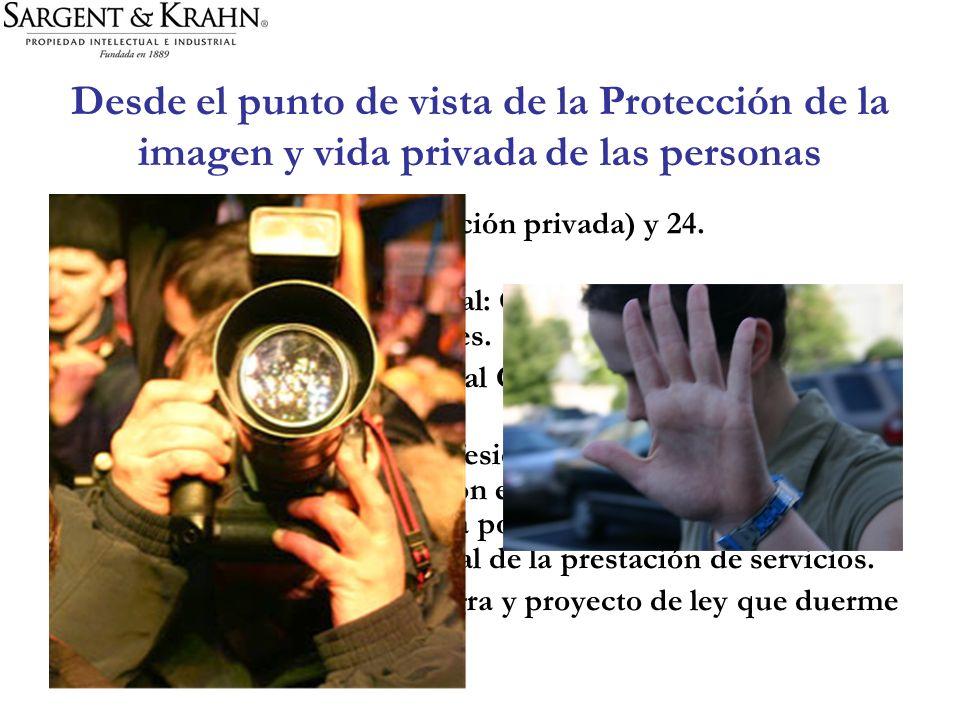 Desde el punto de vista de la Protección de la imagen y vida privada de las personas ART. 19 N° 4, 5 (comunicación privada) y 24. –Recurso de protecci
