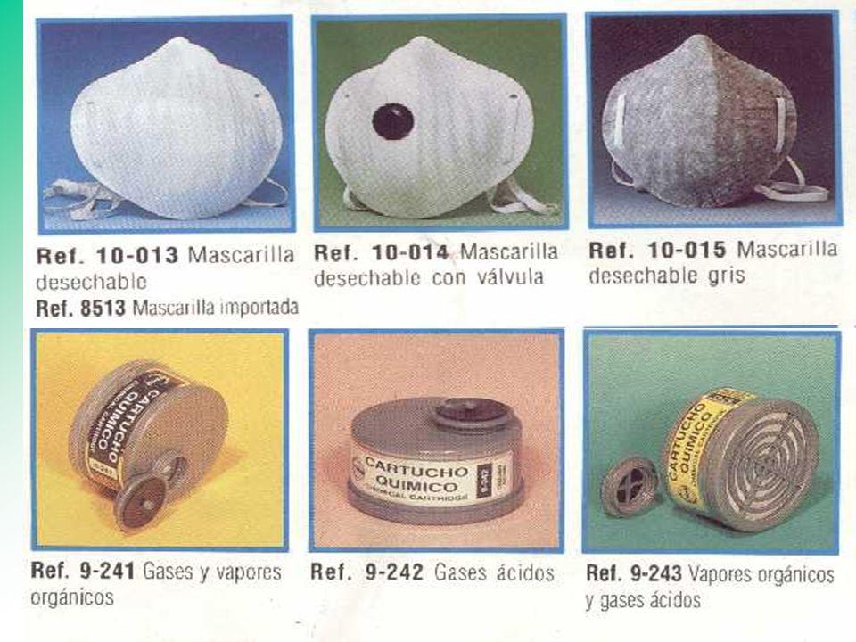 PROTECCION RESPIRATORIA Respirador purificador de aire. (mascarillas y cartuchos) Equipos con suministro de aire. (SCBA - líneas de Aire) Respirador p