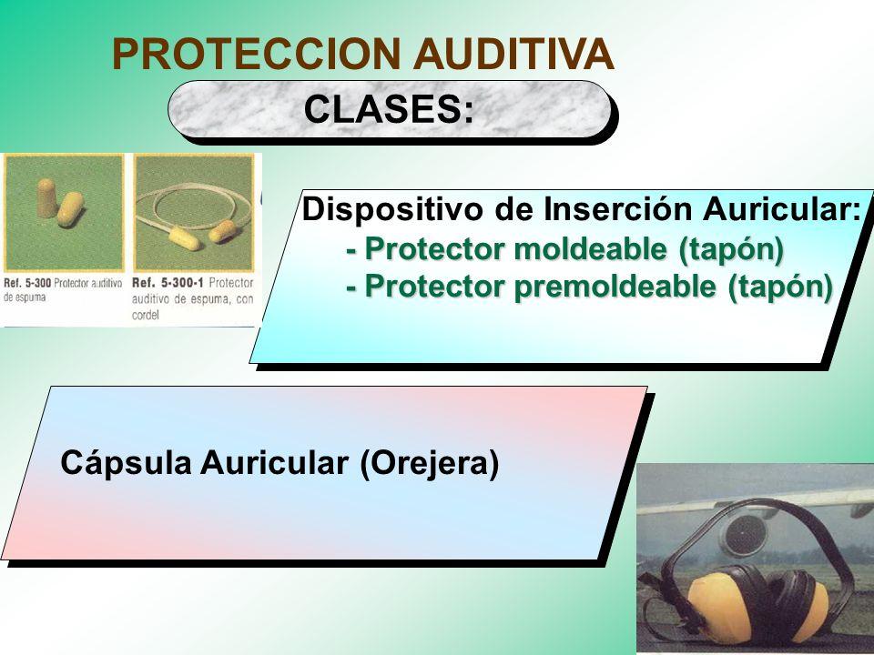 EQUIPOS DE PROTECCION AUDITIVA AUDITIVA Atenuar la percepción de la intensidad de ruido. Prevenir daños en el sistema Prevenir daños en el sistemaaudi