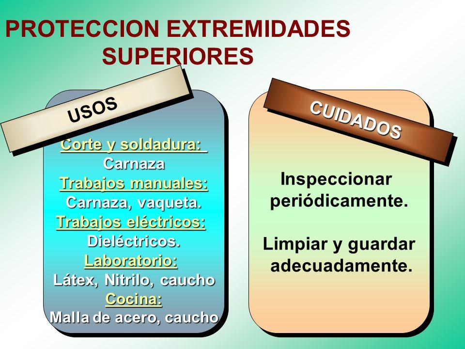 EQUIPOS DE PROTECCION EXTREMIDADES SUPERIORES EQUIPOS DE PROTECCION EXTREMIDADES SUPERIORES Proteger las manos y brazos de factores de riesgo que pued