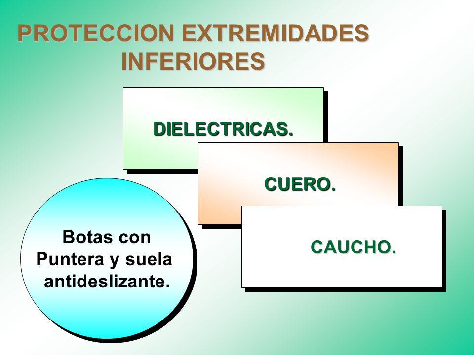 PROTECCION EXTREMIDADES INFERIORES EQUIPOS DE PROTECCION EXTREMIDADES INFERIORES EQUIPOS DE PROTECCION EXTREMIDADES INFERIORES Proteger los pies de fa
