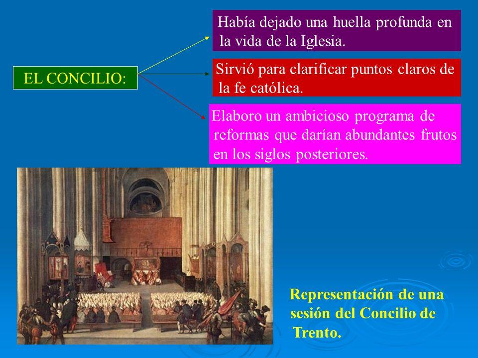 EL CONCILIO: Había dejado una huella profunda en la vida de la Iglesia. Sirvió para clarificar puntos claros de la fe católica. Elaboro un ambicioso p
