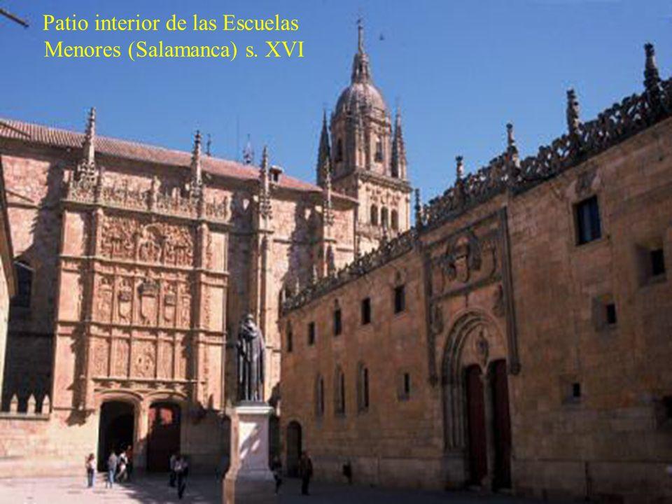 Patio interior de las Escuelas Menores (Salamanca) s. XVI