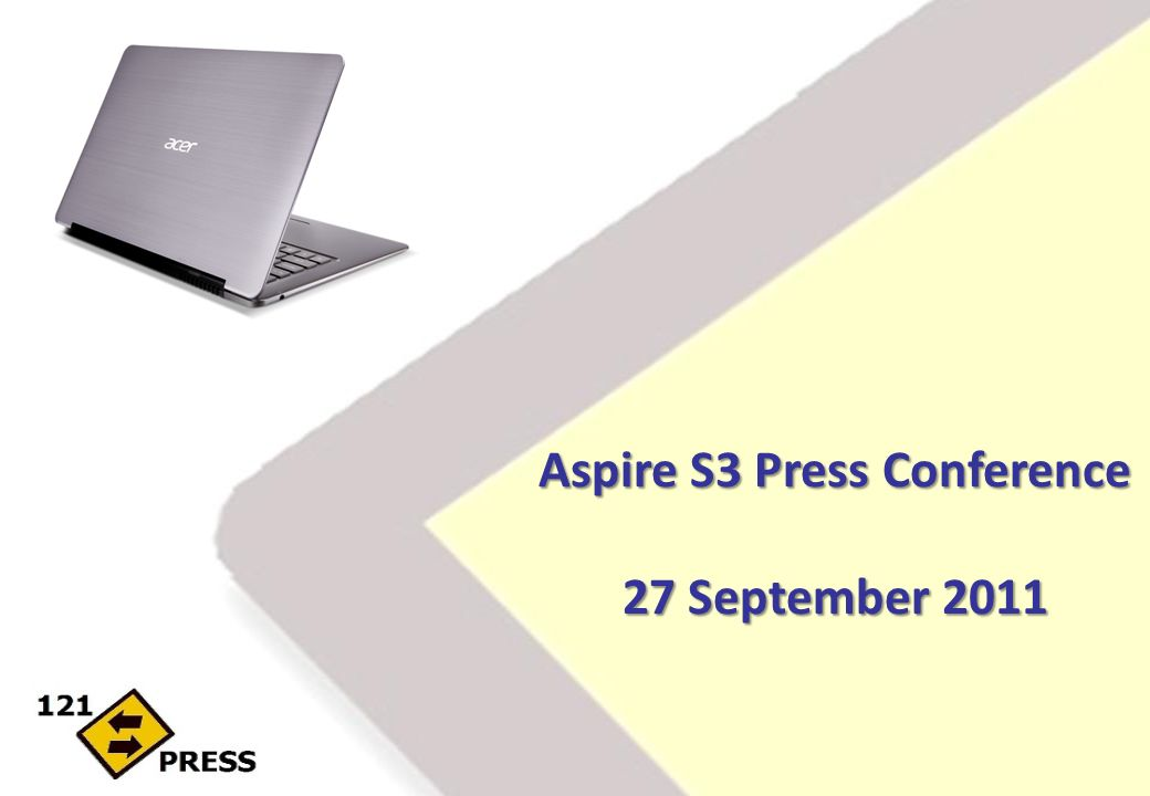 Aspire S3 Press Conference 27 September 2011