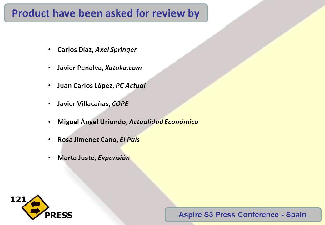 Carlos Díaz, Axel Springer Javier Penalva, Xataka.com Juan Carlos López, PC Actual Javier Villacañas, COPE Miguel Ángel Uriondo, Actualidad Económica