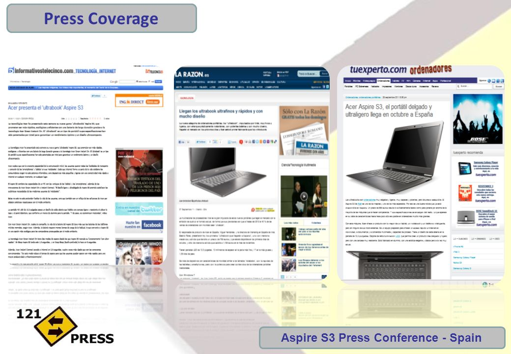 Aspire S3 Press Conference - Spain Press Coverage