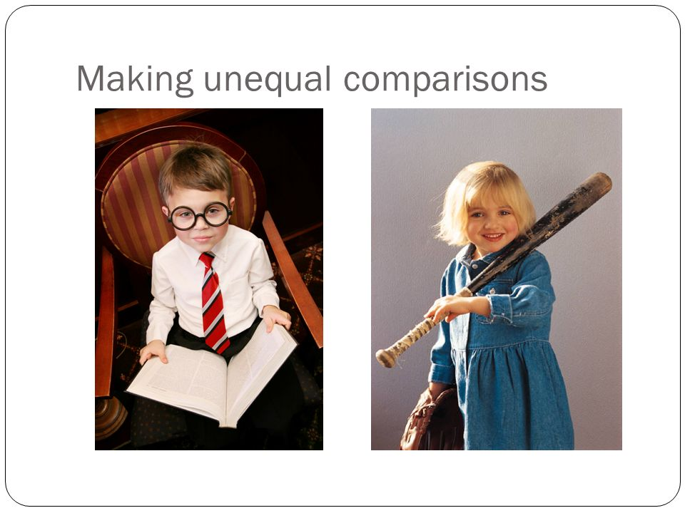Making unequal comparisons