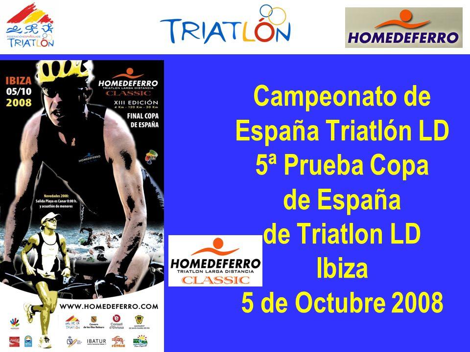 Campeonato de España Triatlón LD 5ª Prueba Copa de España de Triatlon LD Ibiza 5 de Octubre 2008