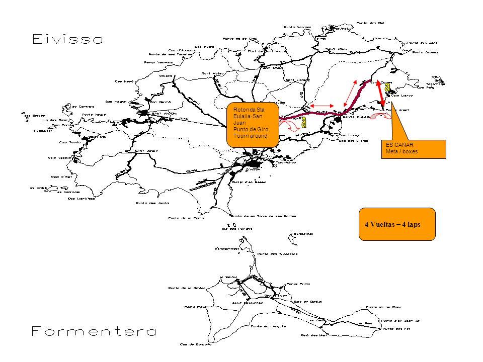 ES CANAR Meta / boxes Rotonda Sta Eulalia-San Juan Punto de Giro Tourn around 4 Vueltas – 4 laps