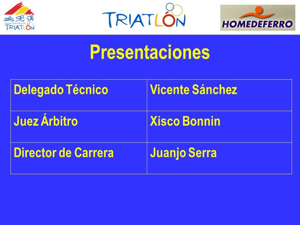 Delegado TécnicoVicente Sánchez Juez ÁrbitroXisco Bonnin Director de CarreraJuanjo Serra Presentaciones