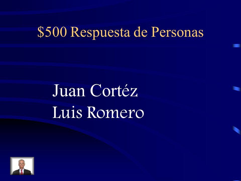 $500 Pregunta de Personas Los nombres de los dos matadores en el libro.