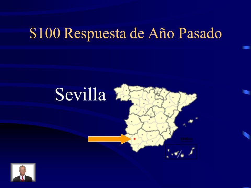 $100 Pregunta de Ana ¿D ónde vive Ana en España (la ciudad)