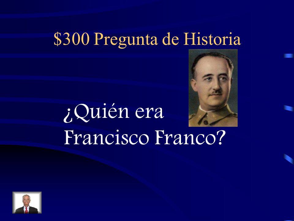 $200 Respuesta de Historia En el siglo 18 (1700s)