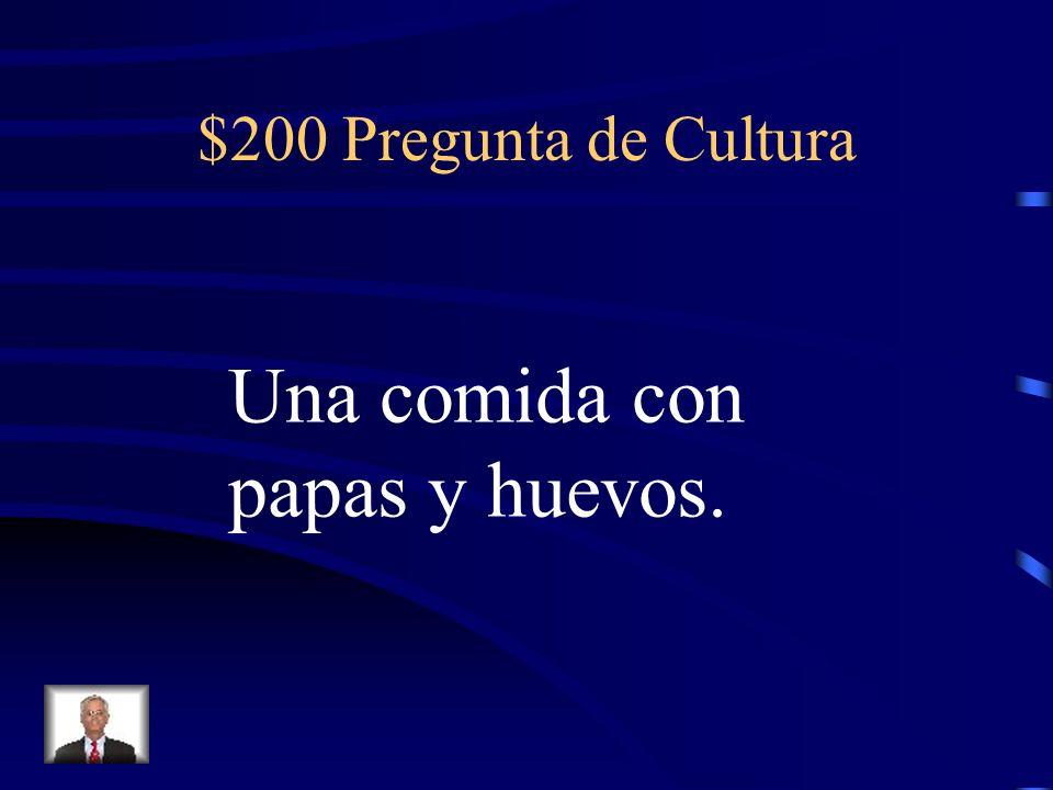 $100 Respuesta de Cultura Flan