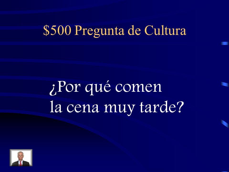 $400 Respuesta de Cultura Vale