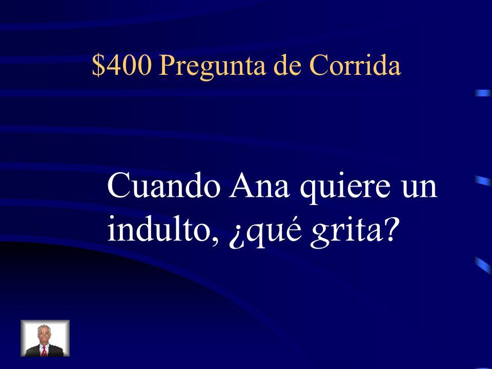 $300 Respuesta de Corrida Premio