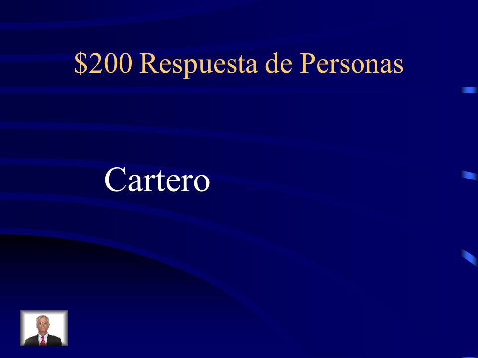 $200 Pregunta de Personas El trabajo del Sr. de Marco.
