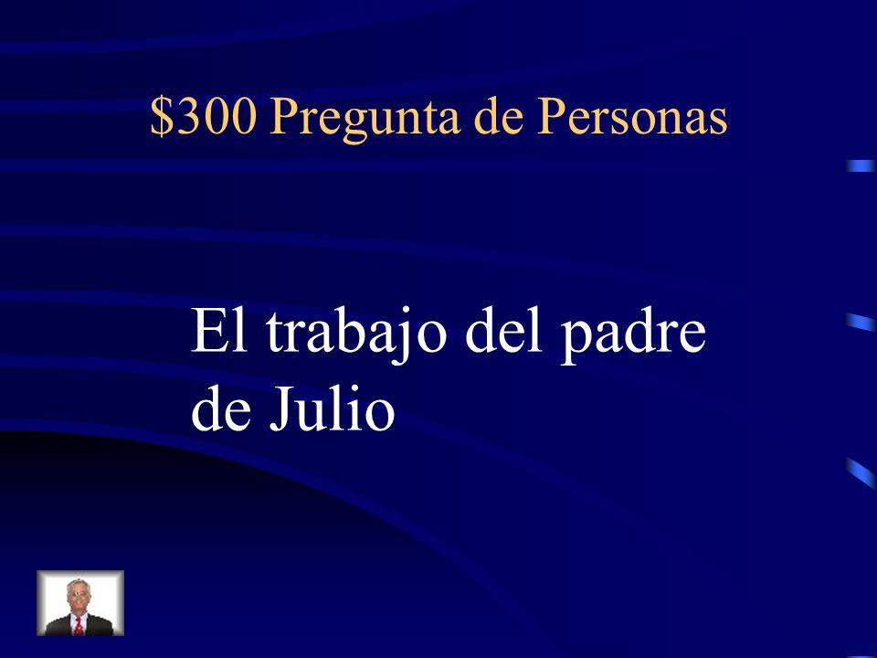 $300 Pregunta de Cultura La religión de la familia de Marco y de muchos Españoles.