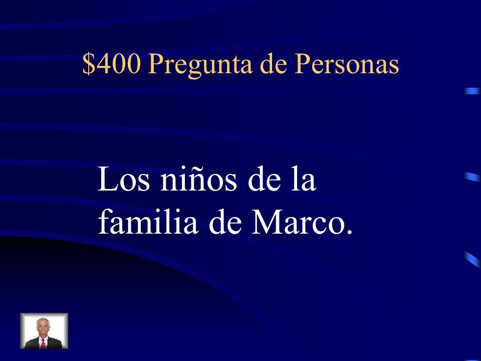 $400 Pregunta de Corrida Cuando Ana quiere un indulto, ¿qué grita?