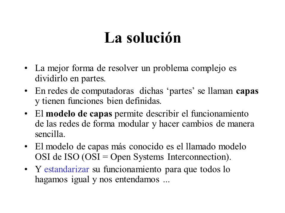Los problemas La interconexión de hosts es un problema técnico de complejidad elevada. Requiere el funcionamiento correcto de equipos (hardware) y pro