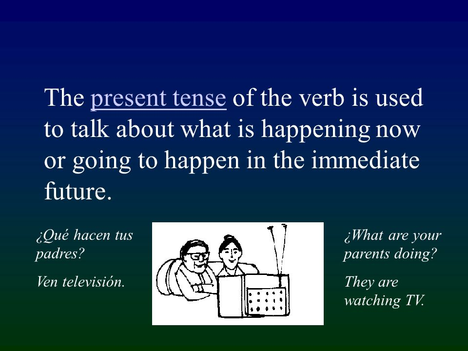 For all tenses of verbs in Spanish, the verb ending must agree with the subject of the sentence in person and number.subjectpersonnumber Person Number 1st Singular 2nd Plural 3rd