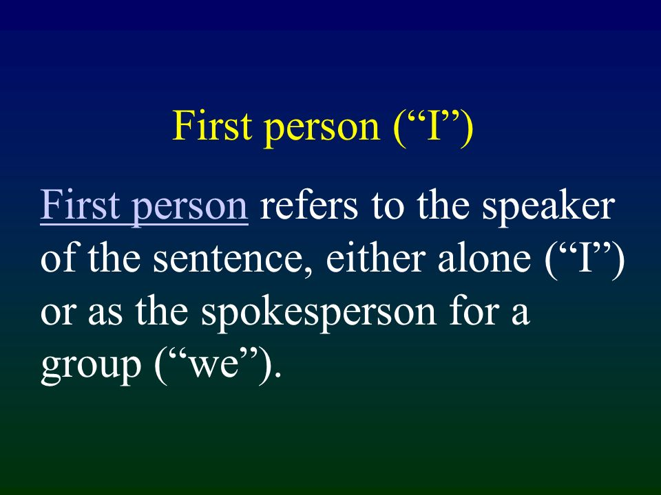 In Spanish, the 1st person subject pronouns, yo and nosotros, may always be used as the subject of a sentence in which the speaker is talking about himself or herself..