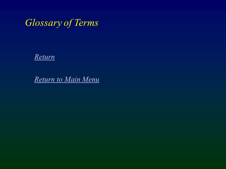 Glossary of Terms Return Return to Main Menu