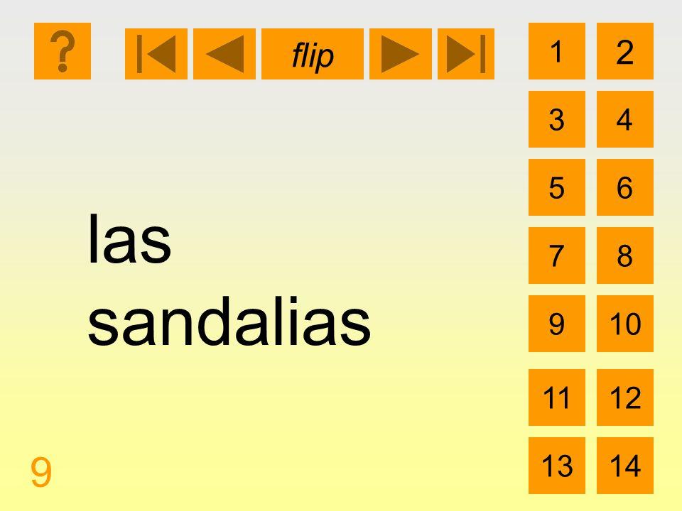 1 3 2 4 5 7 6 8 910 1112 1314 flip 9 las sandalias
