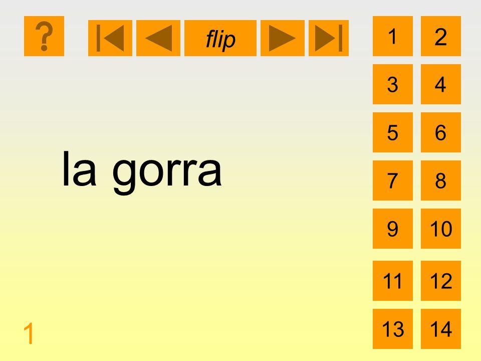1 3 2 4 5 7 6 8 910 1112 1314 flip 1 la gorra