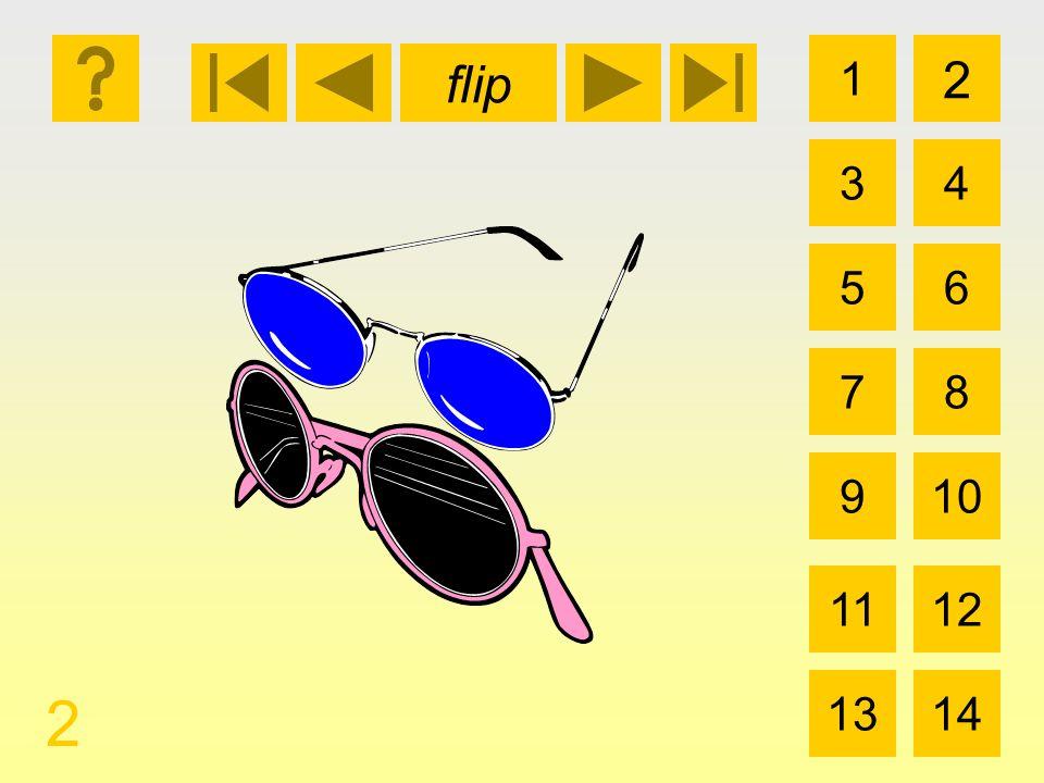 1 3 2 4 5 7 6 8 910 1112 1314 flip 2 las gafas de sol