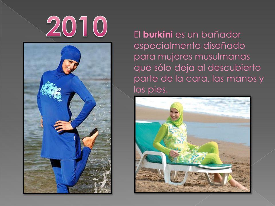 El burkini es un bañador especialmente diseñado para mujeres musulmanas que sólo deja al descubierto parte de la cara, las manos y los pies.