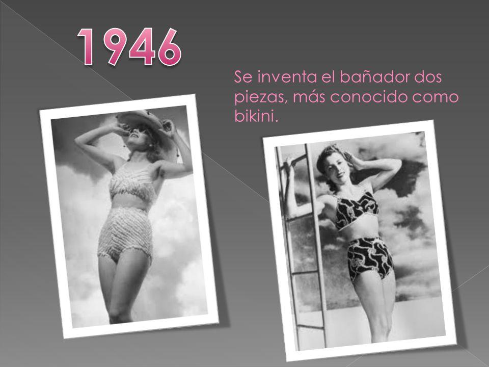 Se inventa el bañador dos piezas, más conocido como bikini.