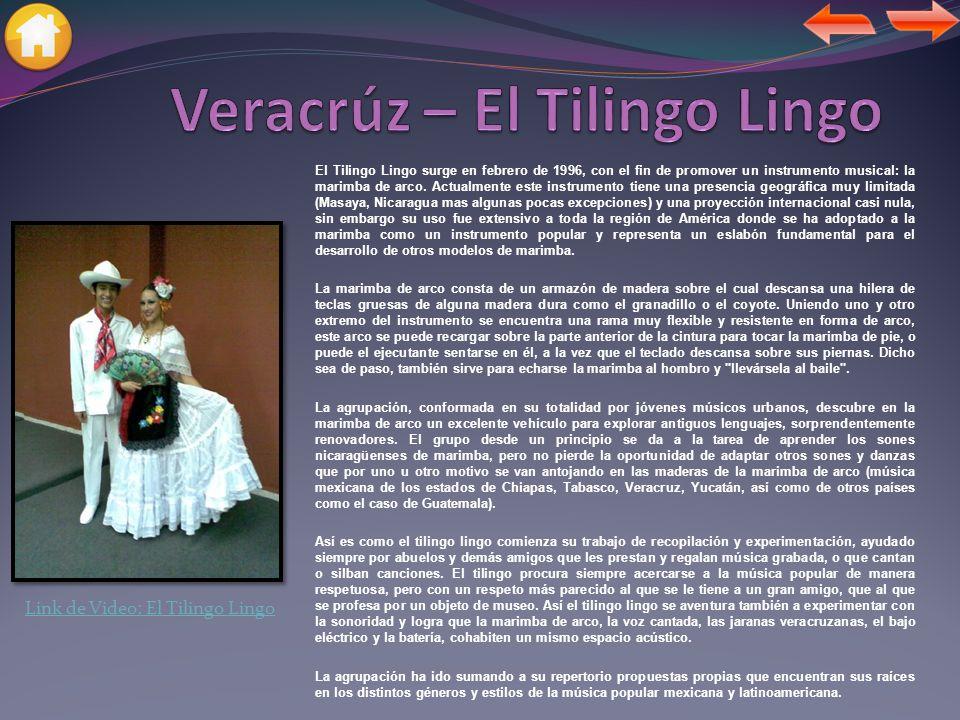 El Tilingo Lingo surge en febrero de 1996, con el fin de promover un instrumento musical: la marimba de arco.