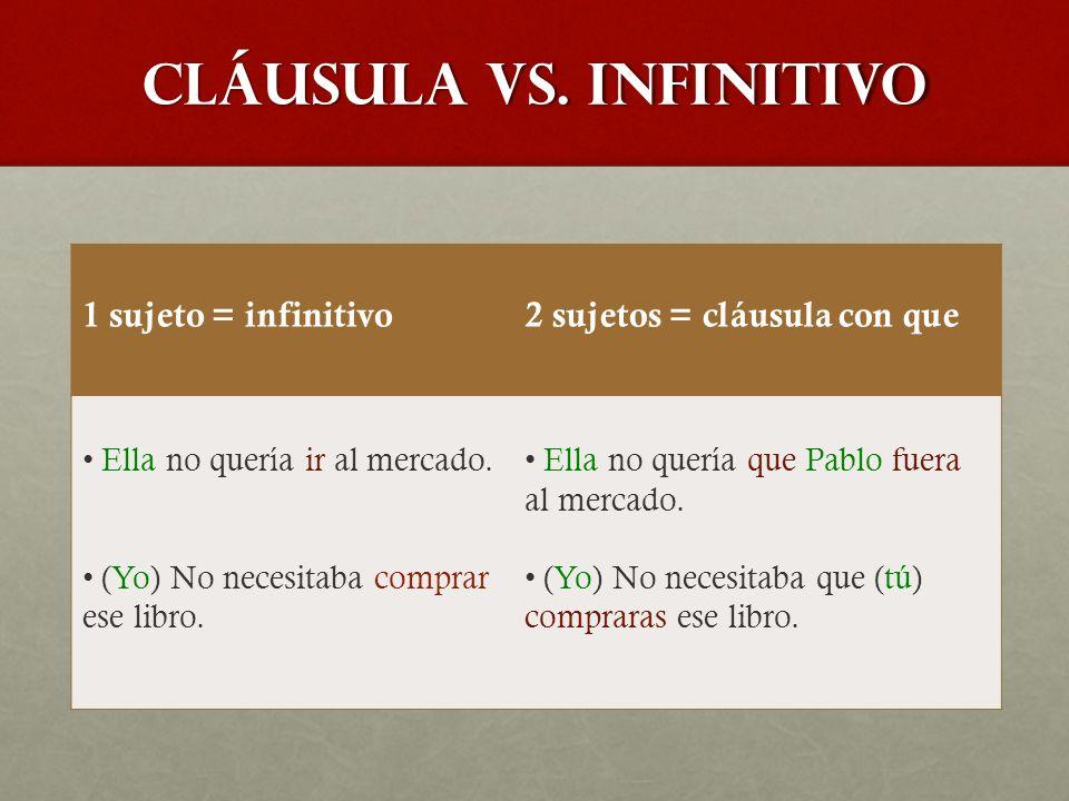cláusula vs.