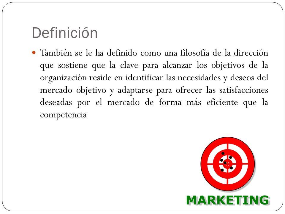 Definición También se le ha definido como una filosofía de la dirección que sostiene que la clave para alcanzar los objetivos de la organización resid