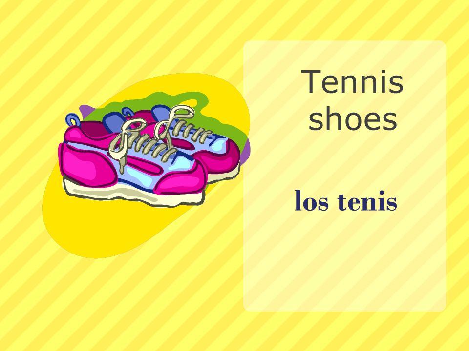 los tenis Tennis shoes