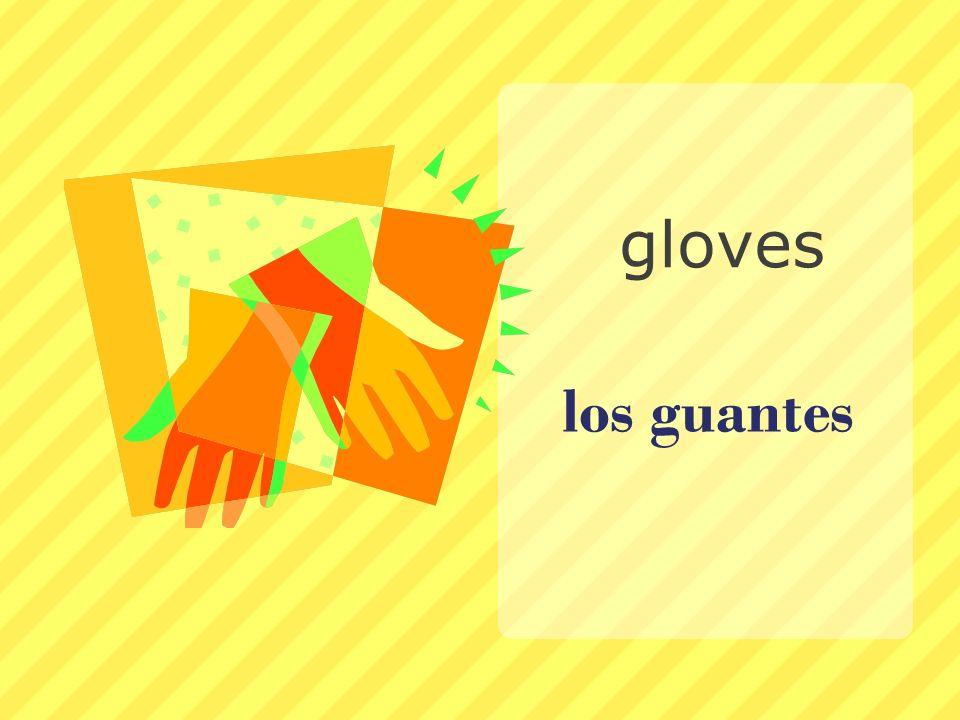 los guantes gloves