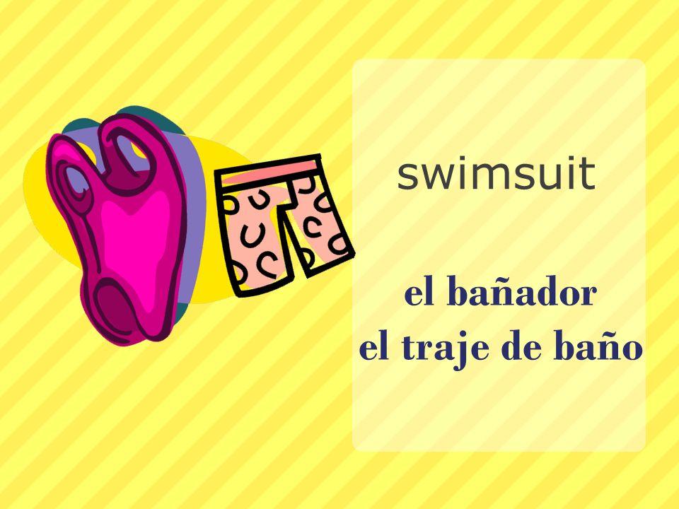 el bañador el traje de baño swimsuit